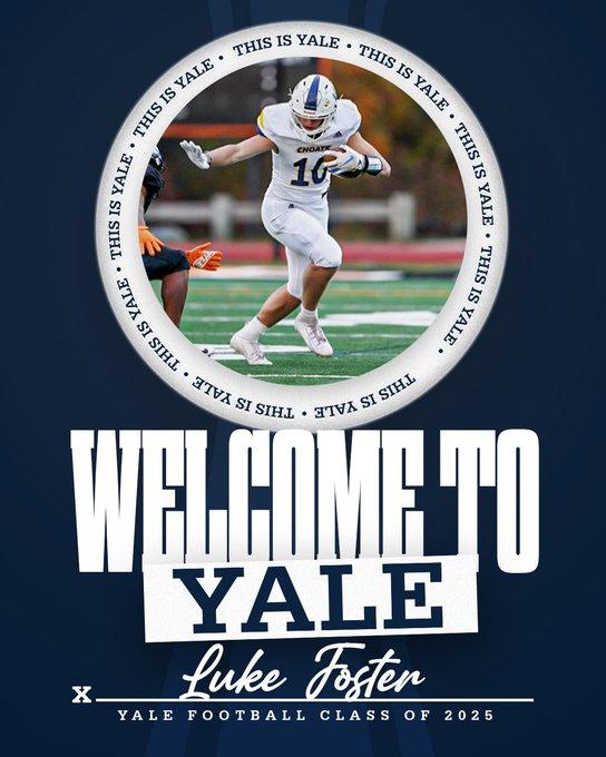 Yale Welcomes Luke Foster